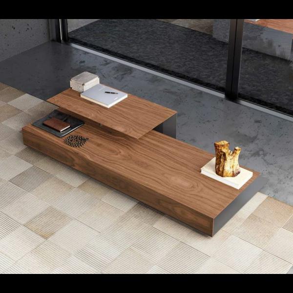 Επίπλωση Σπιτιού - Μοντέρνα τραπεζάκια σαλονιού από ξύλο καρυδιάς