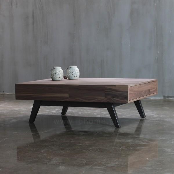 Επίπλωση Σπιτιού - Μοντέρνα τραπεζάκια σαλονιού από ξύλο καρυδιάς με πόδια από μασίφ μαύρη λάκα